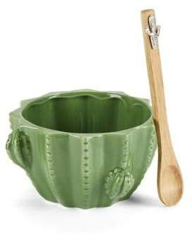 Twos Company Two's Company Two-Piece Cactus Bowl and Spoon Set