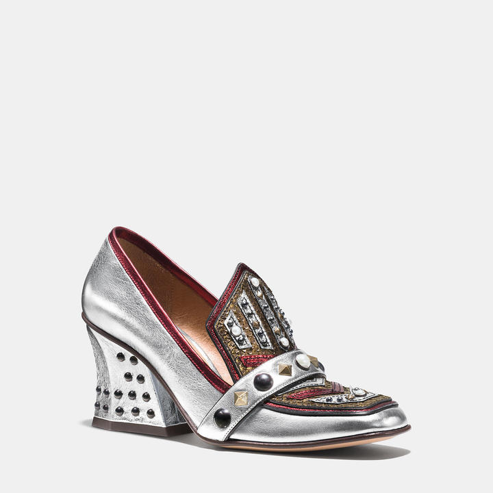 Coach  Coach High Vamp Loafer With Shield