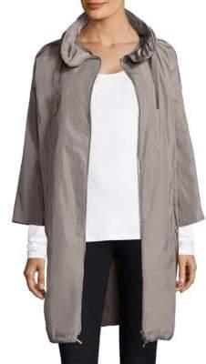 Herno Techno Taffeta Long Cocoon Coat