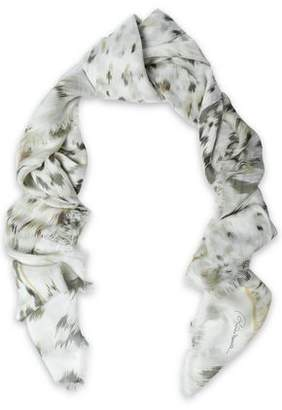 Roberto Cavalli Printed Modal And Silk-Blend Scarf