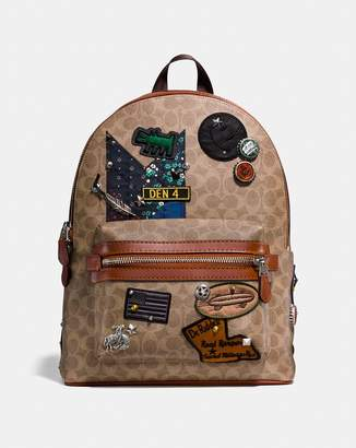 X Keith Haring Academy Backpack In Signature Patchwork