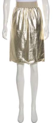 Dolce & Gabbana Knee-Length Metallic Skirt