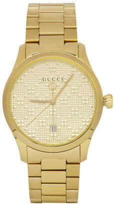 Gucci Gold Pyramid Iconic G-Timeless Watch