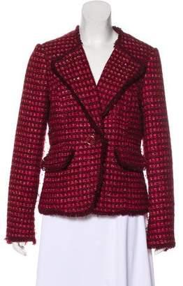 Tory Burch Fringe-Trimmed Tweed Blazer