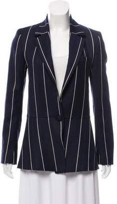 Oscar de la Renta Striped Wool Blazer