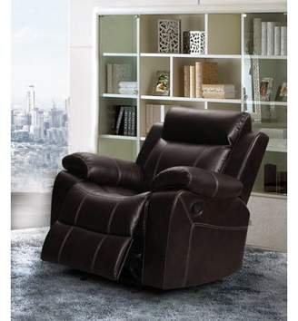 Generic Vivienne Dark Brown Leather Air Rocking Reclining chair