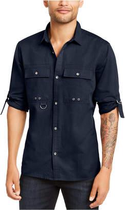 INC International Concepts Inc Men D-Ring Utility Shirt