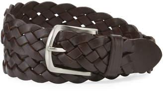 Neiman Marcus Men's Braided Leather Belt