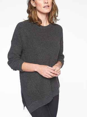 Athleta Rest Day Asym Crewneck Sweater