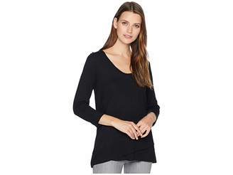 Lilla P 3/4 Sleeve Ribbed Bottom Tee