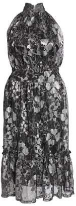 MICHAEL Michael Kors Floral Metallic Midi Dress