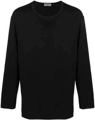 Yohji Yamamoto long-sleeve fitted sweatshirt