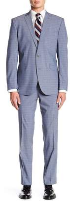 Kenneth Cole Reaction Plaid Two Button Notch Lapel Suit