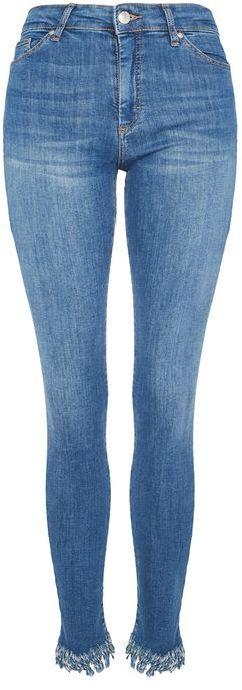 TopshopTopshop Moto destroyed hem leigh jeans