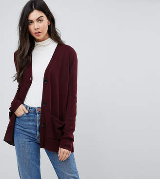 Asos Tall TALL Cardigan with Pockets and Buttons
