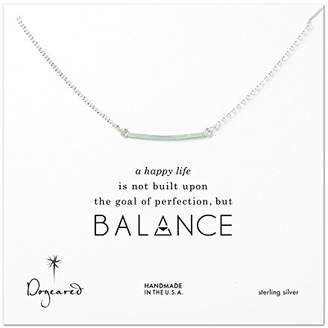 Dogeared Sterling Silver Balance Medium Square Bar Necklace of 45.72cm