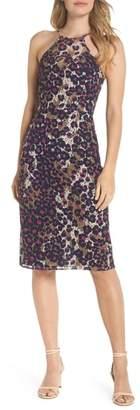 Trina Turk trina Karin Leopard Lace Halter Dress