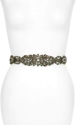 Nordstrom Crystal & Bead Embellished Stretch Belt