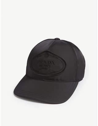 Prada Womens Black Logo Nylon Baseball Cap