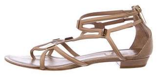 Rene Caovilla Leather Caged Sandals