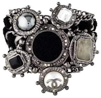 Chanel Wide Woven Chain Bracelet