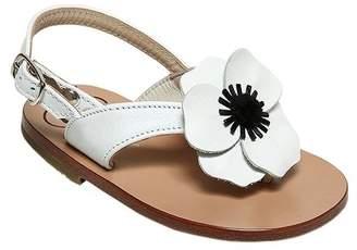 Pépé Nappa Leather Sandals W/ Floral Appliqué