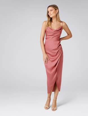 Forever New Holly Cowl Neck Midi Dress - Queen Mauve - 8