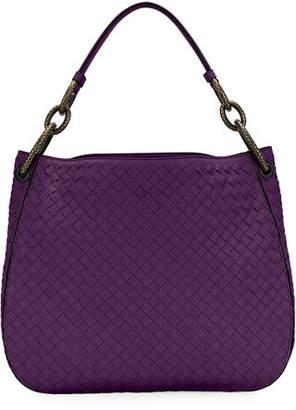 Bottega Veneta Small Loop Intrecciato Woven Hobo Bag