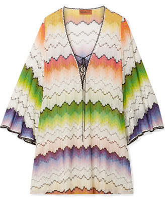 Missoni Mare Lace-up Crochet-knit Kaftan - White