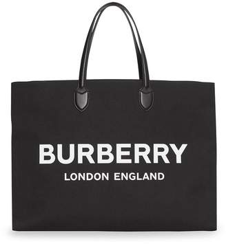 0dd1cab1d Showing 1720 Men's Totes. 10%off NewCustomer JY10 at Farfetch · Burberry  Logo Detail Cotton Blend Tote