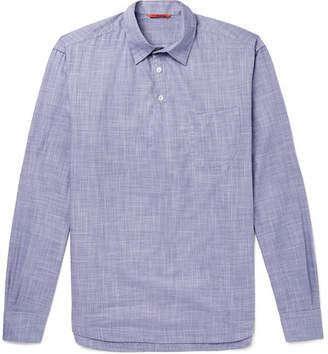 Barena Mélange Cotton Half-Placket Shirt