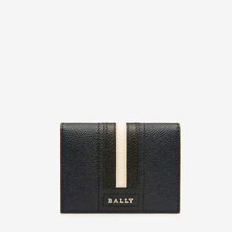 Bally Talder Blue, Men's embossed bovine leather card holder in new blue