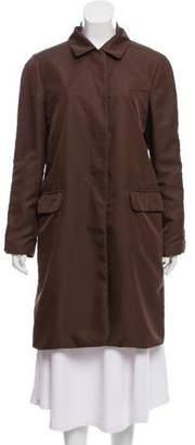 Helmut Lang Notch-Lapel Knee Length Coat
