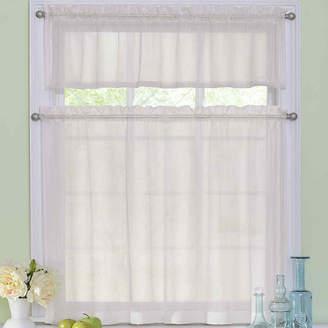 Asstd National Brand Arm & Hammer Curtain Fresh Odor-Neutralizing Rod-Pocket Window Tiers & Valance Set