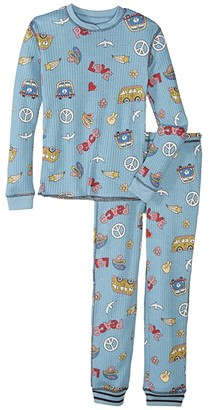PJ Salvage Kids Peace and Love Peachy Two-Piece Jammie Set (Toddler/Little Kids/Big Kids)