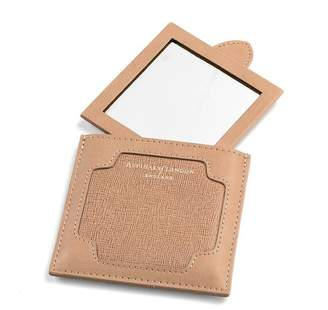 Aspinal of London Marylebone Compact Mirror In Deer Saffiano