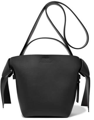 Acne Studios Musubi Mini Knotted Leather Shoulder Bag - Black