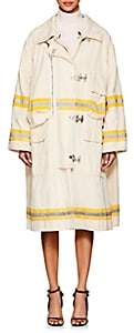 Calvin Klein Women's Cotton Canvas Oversized Trench Coat - Ecru
