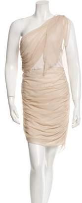 Alice + Olivia One-Shoulder Ruched Dress