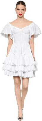 Dolce & Gabbana Ruffled Cotton Poplin Dress