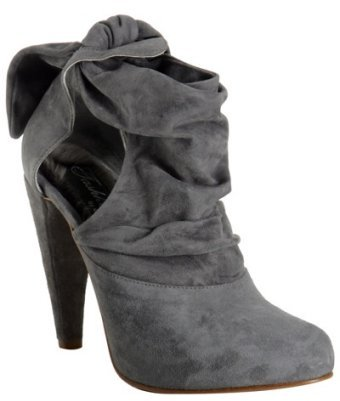 Tashkent by Cheyenne grey suede 'Colette' cut-out ankle boots
