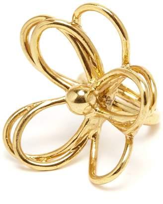 Oscar de la Renta Gold Botanical Scribble Ring