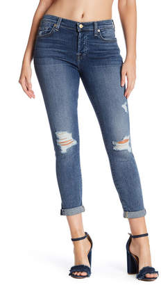 7 For All Mankind Josefina Distressed Skinny Jeans