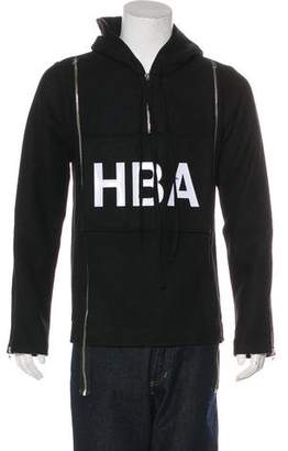 Hood by Air Zip-Accented Wool Hoodie