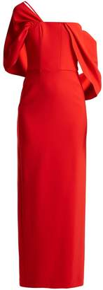 Osman Adalyn off-the-shoulder crepe gown