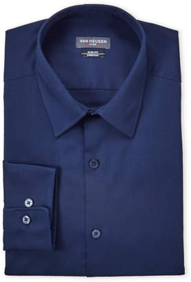 Van Heusen Night Blue Stretch Slim Fit Dress Shirt