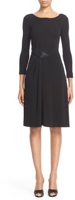 Women's Armani Collezioni Embellished Matte Jersey Dress $1,095 thestylecure.com