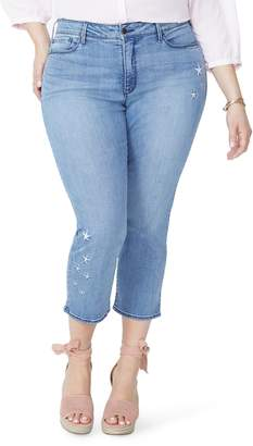 NYDJ Marilyn Seastar High Rise Embroidered Ankle Skinny Jeans