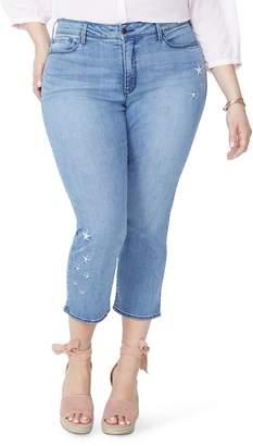 NYDJ Marilyn Seastar Embroidered Ankle Skinny Jeans