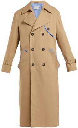 Maison Margiela Deconstructed double-breasted twill trench coat